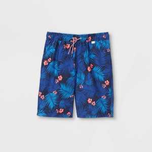 Boys' Leaf Print Swim Trunks - Cat & Jack Blue