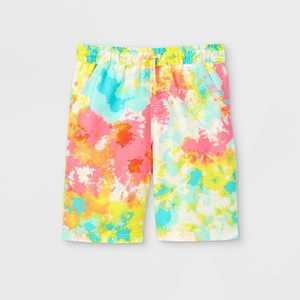 Boys' Tie-Dye Drawstring Swim Trunks - Cat & Jack Blue/Pink/Yellow
