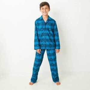 Kids' Holiday Hanukkah Flannel Matching Family Pajama Set - Wondershop Blue
