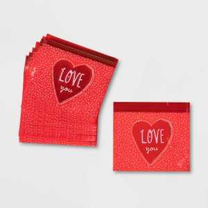 20ct Cellophane Love You Sealable Treat Bags - Spritz™