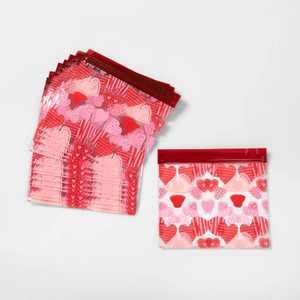 20ct Cellophane Heart Sealable Treat Bags - Spritz™