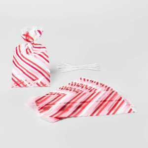 20ct Cellophane Striped Treat Bags - Spritz™