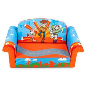 Marshmallow Furniture 2-in-1 Flip Open Couch Bed Sleeper Sofa Kid's Furniture for Ages 2 Years Old and Up, Toy Story