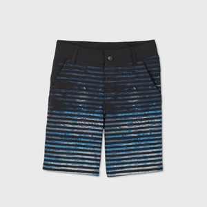 Boys' Thin Stripe Hybrid Swim Trunks - art class Black