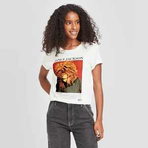 Women's Janet Jackson Short Sleeve Graphic T-Shirt - White