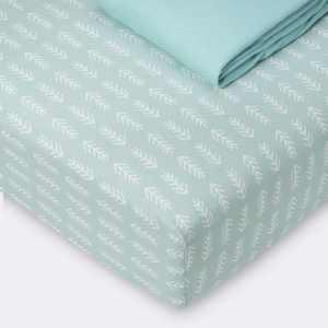 Fitted Crib Sheet Jersey Sheet - Cloud Island™ Arrows/Mint 2pk