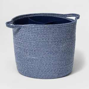 Coiled Rope Storage Bin with Felt Divider - Cloud Island™ Navy