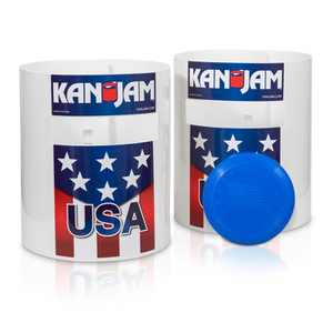 Kan Jam Portable Multiplayer Disc Slam Outdoor Game with 2 Targets, 1 Disc, Goals and Instructions