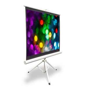 Pyle 50 Inch Fold Out Roll Up Video Projector Viewing Display Screen w/ Stand