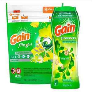 Gain flings! Laundry Detergent Pacs Original + Original In-Wash Scent Booster - Bundle
