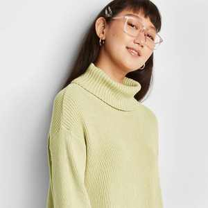 Women's Turtleneck Cropped Pullover Sweater - Wild Fable