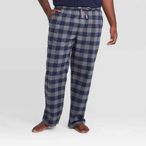 Men's Big & Tall Plaid Flannel Pajama Pants - Goodfellow & Co Gray