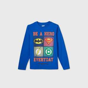 Boys' DC Team Up 'Be a Hero Everyday' Graphic T-Shirt - Blue