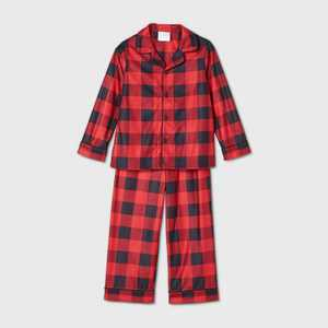 Toddler Holiday Buffalo Check Flannel Matching Family Pajama Set - Wondershop Red