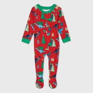 Baby Holiday Dinosaur Print Matching Family Footed Pajama - Wondershop Red