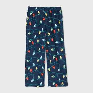Toddler Holiday Lights Fleece Matching Family Pajama Pants - Wondershop Navy