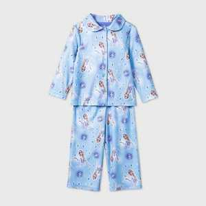 Toddler Girls' Frozen Coat Pajama Set - Purple 2T