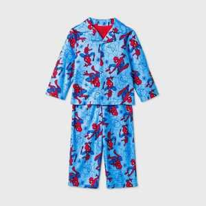 Toddler Boys' Spider-Man Coat Pajama Set - Blue