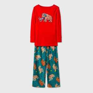 Toddler Boys' Mammoth Pajama Set - Cat & Jack Red