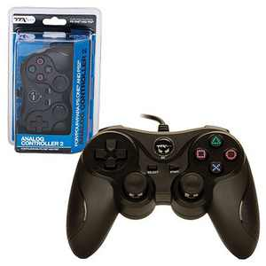 TTX Tech Wired Analog Controller Compatible with Sony PlayStation 1 & 2 PS1/PS2, Black