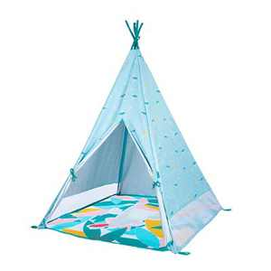 Babymoov Jungle Kid's Extra Large UV Resistant Inside/Outside Play Tent with Convenient Carry Bag, Blue