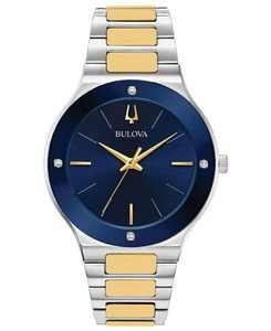 Men's Futuro Diamond-Accent Two-Tone Stainless Steel Bracelet Watch 43mm