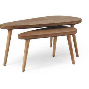 Set of 2 Ivey Coffee Tables Beige - Adore Decor