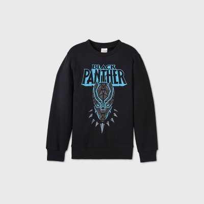Boys' Marvel Black Panther Fleece Sweatshirt - Black