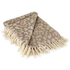 Leopard Print Throw - Design Imports