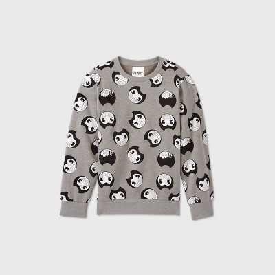 Boys' Bendy and the Ink Machine Fleece Sweatshirt - Gray