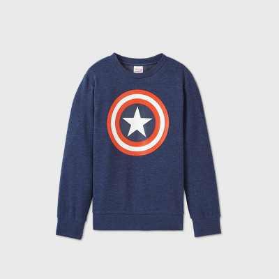 Boys' Marvel Captain America Fleece Sweatshirt - Blue