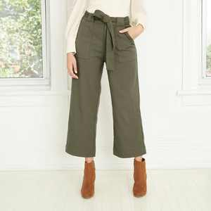 Women's High-Rise Cropped Pants - Who What Wear