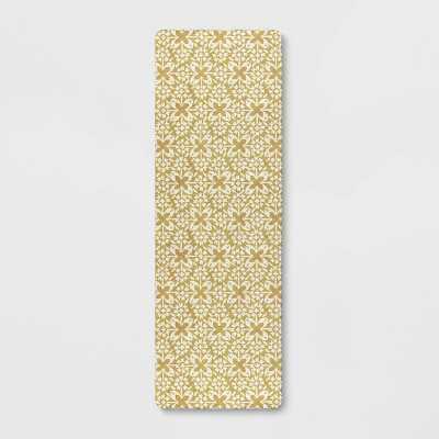 "60"" x 20"" Tile Print Comfort Runner Yellow - Threshold™"