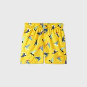 Toddler Boys' Dino Surfing Swim Trunks - Cat & Jack Yellow