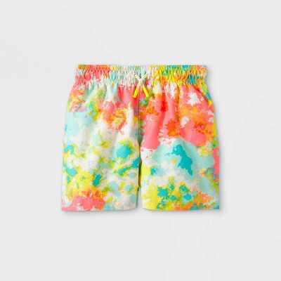 Toddler Boys' Tie-Dye Drawstring Swim Trunks - Cat & Jack