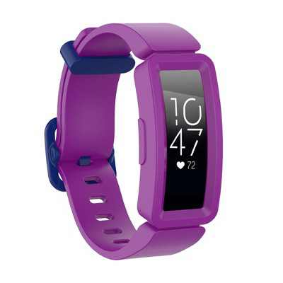 Insten Soft Silicone Replacement Band For Fitbit Inspire HR & Inspire / Inspire 2 & Ace 2, Purple/Blue Clip