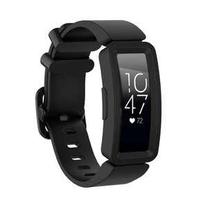 Insten Soft Silicone Replacement Band For Fitbit Inspire HR & Inspire / Inspire 2 & Ace 2, Black