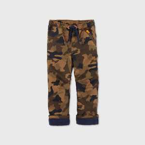 Toddler Boys' Camo Fleece Lined Pull-On Pants - Cat & Jack Brown