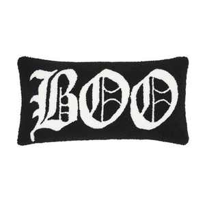 """C&F Home 12"""" x 24"""" Boo Hooked Pillow"""