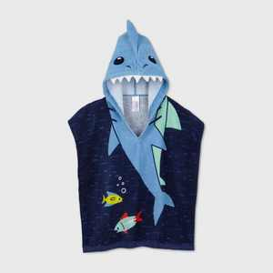 Toddler Boys' Shark Hooded Cover Up - Cat & Jack Blue