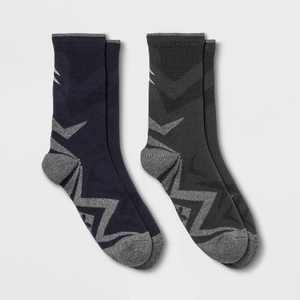 Women's Lightweight Cushioned Sport Wool Blend 2pk Crew Socks - All in Motion 4-10