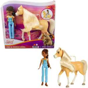 Spirit Untamed Pru & Chica Linda Doll and Horse Figures