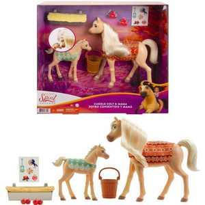 Spirit Untamed Cuddle Colt & Mama Animal Figure & Accessories