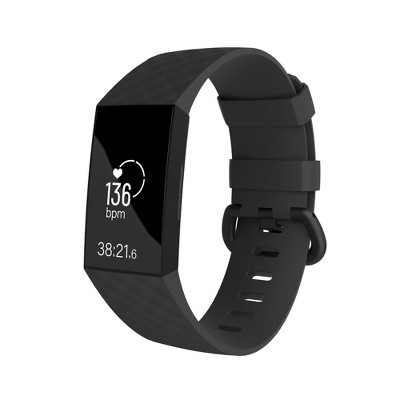Replacement Band For Fitbit Charge 3 & Charge 4, Black Size Small S by Zodaca