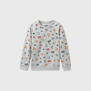 Boys' Nintendo Animal Crossing Fleece Sweatshirt - Gray