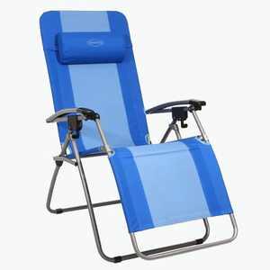 Kamp-Rite KAMPAC076 Outdoor Furniture Camping Beach Patio Sports Anti Gravity Folding Reclining Chair, Blue