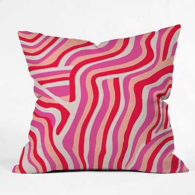 "16""x16"" Sunshine Canteen Zebra Stripes Throw Pillow Pink - society6"