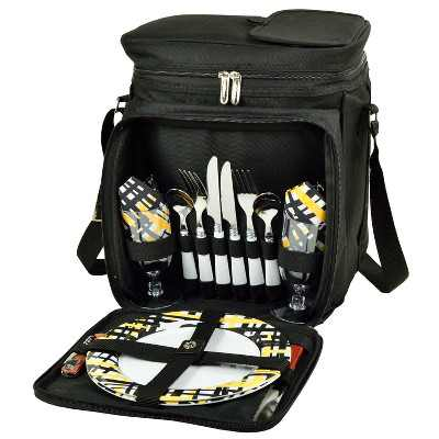 Picnic at Ascot Insulated Picnic Basket/Cooler Fully Equipped with Service for 2 - Paris