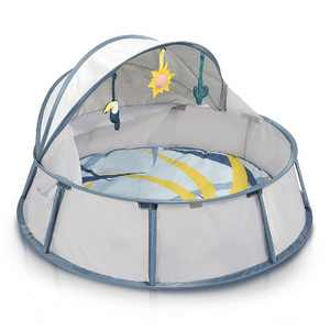 Babymoov Babyni Premium Protective Pop-Up 3-in-1 Portable Inside/Outside Baby and Toddler Playpen with Canopy Tent and Mosquito Net