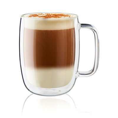 ZWILLING Sorrento Plus 2-pc Double-Wall Glass Latte Mug Set